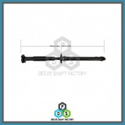 Rear Propeller Drive Shaft Assembly - DSX318
