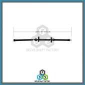 Front, Middle & Rear Sections of the Rear Propeller Drive Shaft Assembly - 100-00040