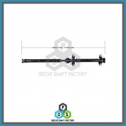 Middle & Rear Sections of the Rear Propeller Drive Shaft Assembly - 100-00063